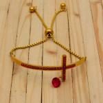 pulsera dorado zircones
