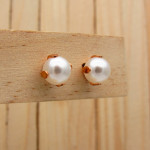 aretes rosado perlas    SKU3375