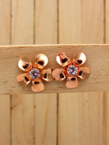 aretes rosado zircones    SKU3381