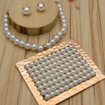 juegos rosado perlas   grandes SKU3449