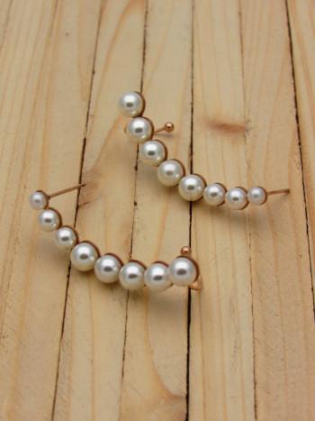 aretes rosado perlas    SKU3471