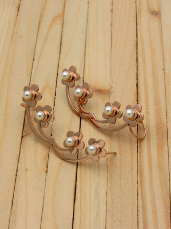 aretes rosado perlas    SKU3480