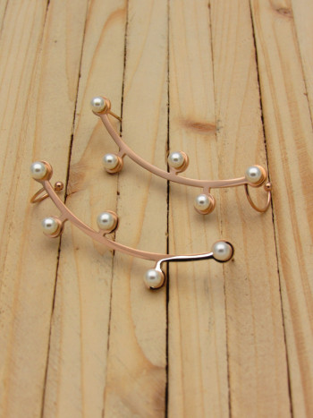 aretes rosado perlas    SKU3483