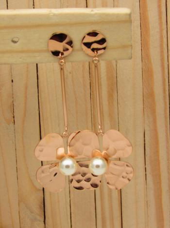 aretes rosado perlas    SKU3486