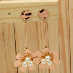 aretes rosado perlas    SKU3489