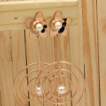aretes rosado perlas    SKU3492