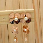 aretes rosado perlas    SKU3495