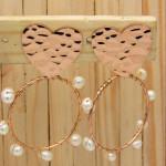 aretes rosado perlas    SKU3507