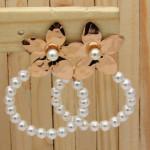 aretes rosado perlas    SKU3519