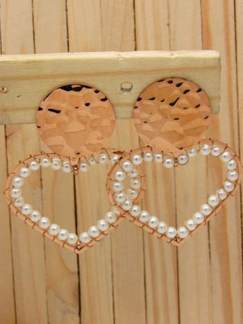 aretes rosado perlas    SKU3528