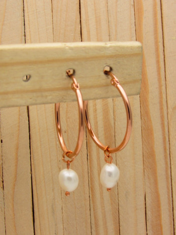 candongas rosado perlas    SKU3531