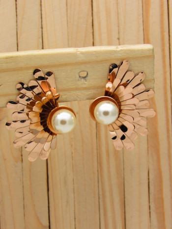 aretes rosado perlas    SKU3543