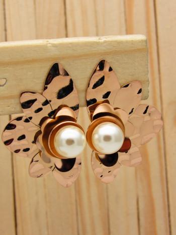 aretes rosado perlas    SKU3549