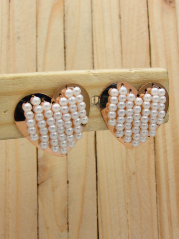 aretes rosado perlas    SKU3628