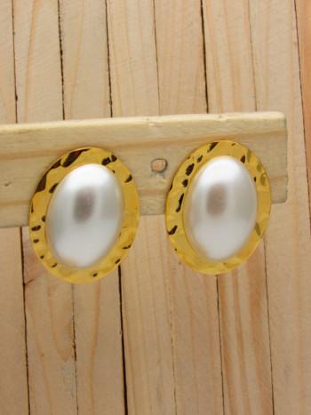 aretes dorado perlas    SKU3630