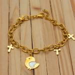 pulseras dorado nacar    SKU3634