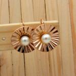 aretes rosado perlas    SKU3638