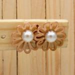 aretes dorado perlas    SKU3643