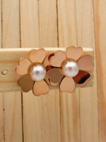 aretes rosado perlas    SKU3650