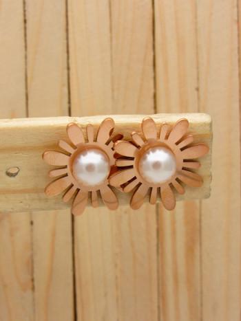 aretes rosado perlas    SKU3653