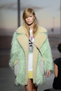 spring faux shearling coat