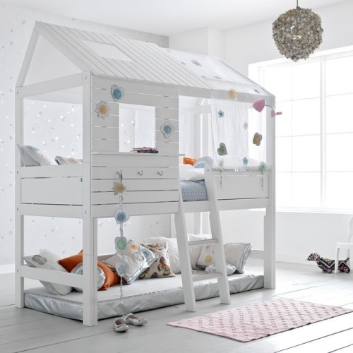 silversparkle high hut bed