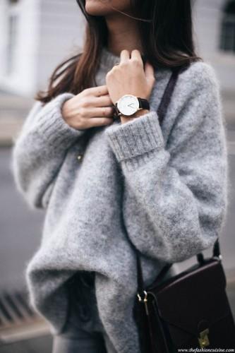 H&M grey mohair