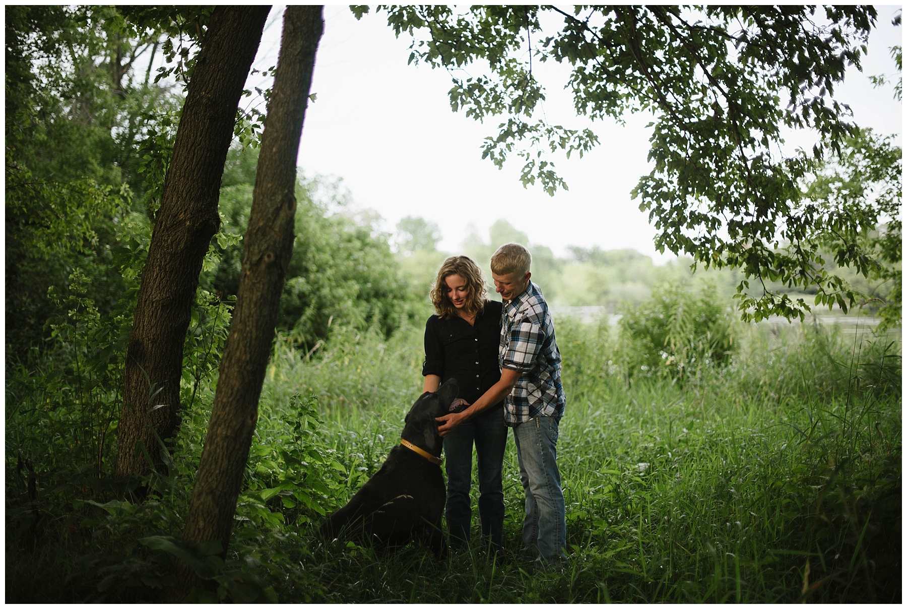 engagement photos with dog mn