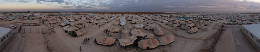 An overview of Za'atari Refugee Camp in Jordan. Panorama taken on 21 November, 2012.