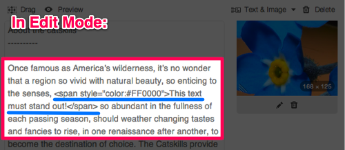 html tricks and tips 2 color change before