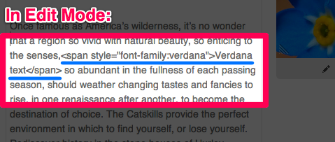 html tricks and tips 4 font change before