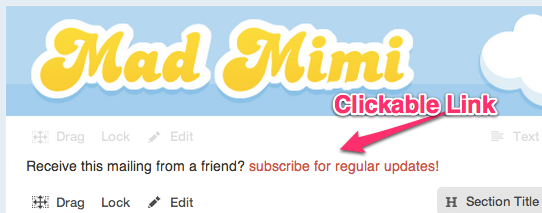 The subscribe link final display