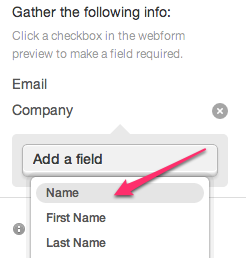 Adding fields to webforms