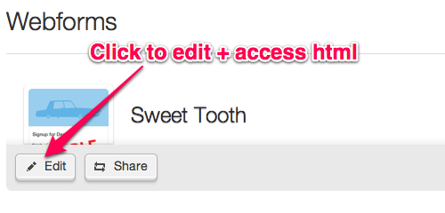 Webform Edit Button