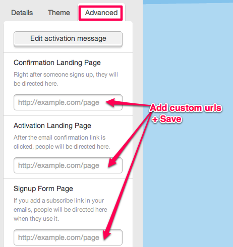 Advanced Webform Options, Custom Landing Pages