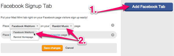 Facebook Signup Add Tab