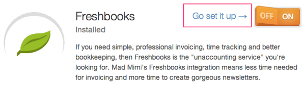 Freshbooks email marketing integration, set it up