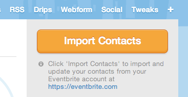 import Eventbrite contacts into Mad Mimi audience