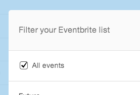 another way of including your entire eventbrite event list in your Mad Mimi  mailing