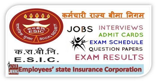 ESIC Question Papers - UDC, MTS, J E Model Test Papers