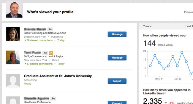 """LinkedIn's update to """"Who's viewed your profile"""" is good news for free users."""