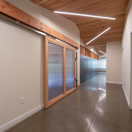 crossfit hallway design