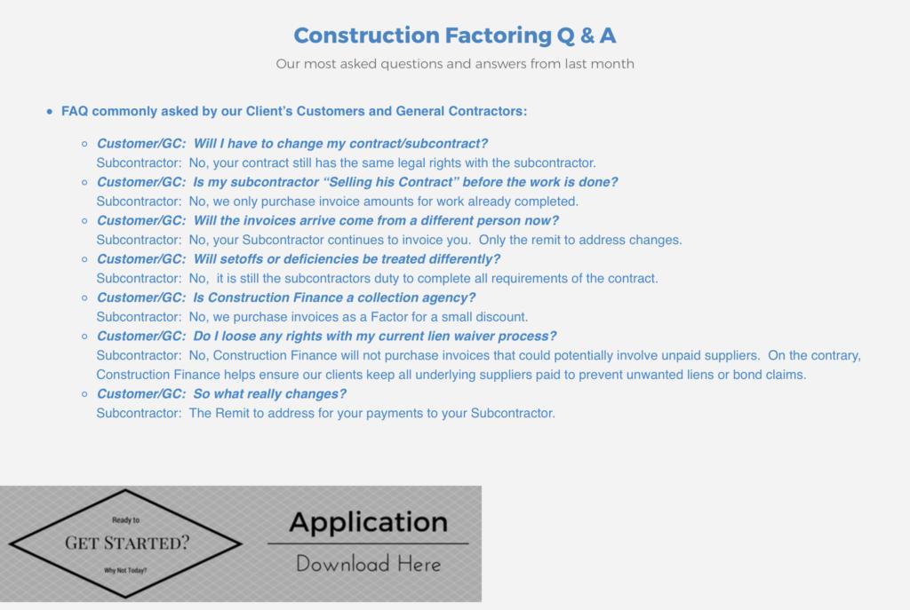 Construction Finance Application