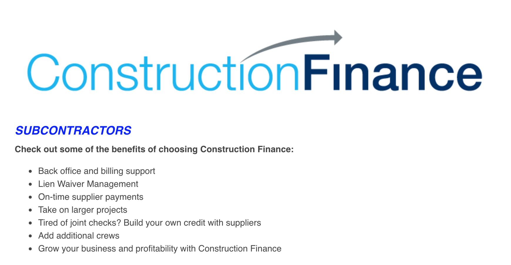 construction factoring