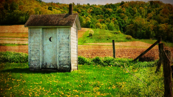 Construction finance indoor plumbing outhouse