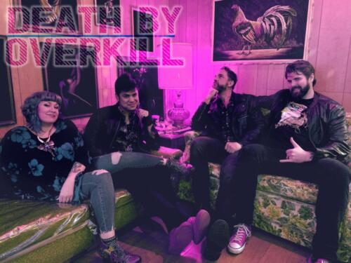 Seattle Rock Band.  Death by Overkill 2020.   stayC Meyer, William Perry Moore, Jake Jovanovich, and Elliott Nuttwww.deathbyoverkill.com