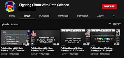 Fighting Churn With Data Science on You Tube