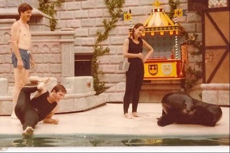 Stephen Dewoody on the left at Sea World San Diego  Courtesy Renaissance Entertainment