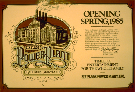 A billboard created for Six Flags in the early stages to let the public know what was coming. Copyright The Goddard Group All Rights Reserved