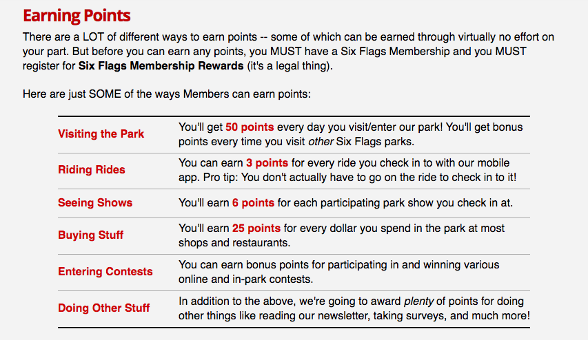 Six Flags Adds Rewards Program - Earn Points By Going On Rides